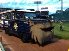 Photo: 'Bearded duck boat' prepares at Fenway Park for Boston Red Sox parade - @SteveNECN