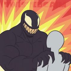 Venom nom nom by TwistedGrim on Newgrounds Venom Comics, Marvel Dc Comics, Marvel Heroes, Venom Spiderman, Marvel Venom Movie, Venom Character, Chibi Marvel, Venom Art, Arte Nerd