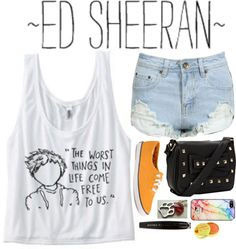 """""""Ed Sheeran"""" by blondeprincess623 ❤ liked on Polyvore"""
