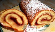 Cake Roll Recipes, Candy Recipes, Sweet Recipes, Dessert Recipes, Greek Desserts, Party Desserts, Cooking Cake, Cooking Recipes, Low Sodium Recipes