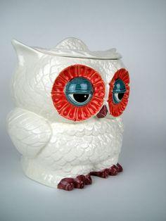 Vintage Ceramic Owl Cookie Jar..want this...