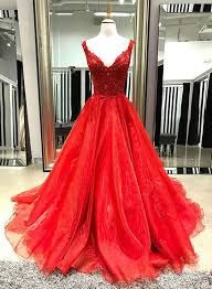 Two Straps V Neck Bright Red A line Long Custom Evening Prom Dresses 478c635ee066