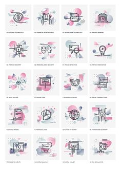 Fintech Industry Icons on Behance