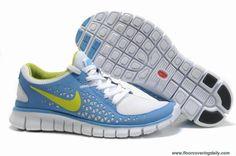cheap for discount dc0e3 7f0d0 Discounts Blue Yellow 395912-110 Nike Free Run Womens Yellow Shoes, Blue  Yellow,