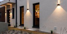 Terrific Pictures Garden Lighting walkways Tips Retreating to the backyard after… - Beleuchtung Facade Lighting, Exterior Lighting, Led Outdoor Wall Lights, Outdoor Walls, Backyard Lighting, Outdoor Lighting, Luminaire Mural, Haus Am See, Backyard Patio Designs