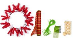Party Ideas by Mardi Gras Outlet: Christmas Wreath with Deco Mesh: A Video Tutorial