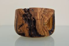 Woodturning. Handmade decorative bawl from olive tree's root. More informations about our projects at https://www.artstreet52.com