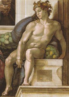 Sixtinische Kapelle, Michelangelo, Ignudo by HEN-Magonza, via Flickr