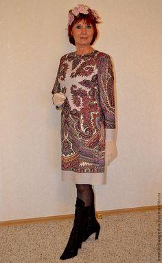 """Купить Платье из платка """"Волшебный узор"""". - Павлопосадский платок, одежда из платков, платье, нарядное платье"""