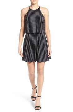 Lush Stripe Popover Skater Dress