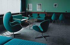 Blue teal - ufficio turchese in stile vintage - #interior #design #turquoise