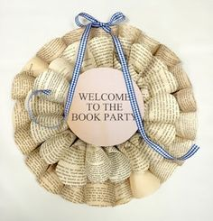 book welcome wreath
