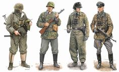 Dragon Models USA - 1/35 Das Reich Division, Eastern Front 1943-44 (4 Figure Set)