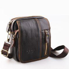 70d28fa7e2 Leather Bag Fashion Design Male Bag Cowhide Leather