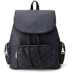 FOREVER 21 Laser Cut Faux Leather Backpack (43 CAD) ❤ liked on Polyvore featuring bags, backpacks, accessories, bolsas, sac, black, sling bag, vegan leather backpack, sports drawstring backpack and sports backpack