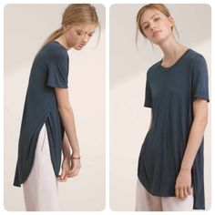 Need Now: Aritzia Wilfred Gray Capucine T-Shirt This is an amazing not-so-basic basic tee you need in your life. Great for both dressing up and for lounging. No trades. Offers welcome. Bundle and receive 30% off your entire purchase automatically at checkout, or ask me to create a bundle for you. Happy Poshing! Aritzia Tops Tees - Short Sleeve