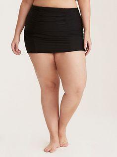 2b689ec42fa Black Ruched Swim Skirt. Plus Size Bikini BottomsSwim BottomsWomen s ...