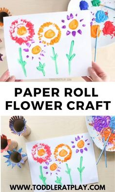 Paper Roll Flower Craft