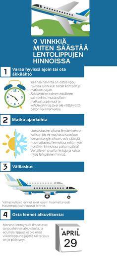 Näin säästät lentolipuissa Infographic