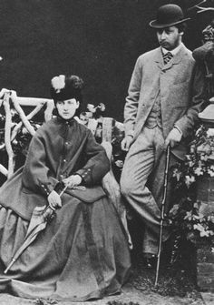 The Prince and Princess of Wales (later King Edward VII and Queen Alexandra), 1863.