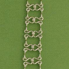 Handmade Sterling Silver Bracelet, Metalwork Bracelet, Handmade Links, Artisan