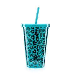 Copo Canudo Oncinha Azul