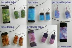 Jenefer Ham Kiln Formed Glass: Texture Waves Jewellery, Glass Necklaces and Earrings