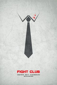 This visual language is presented by a tie of a man to represent the title fighting club which is a man exercise and club.