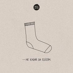 Bazen kendini çamaşır makinesinden öteki teki çıkmamış bir çorap gibi hissedersin. #HisliŞeyler Art Diary, My Philosophy, Funny Captions, Dream Art, Current Mood, Cool Words, Life Lessons, Quotations, Writer