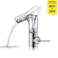 Among the 30 Best Products of 2014 on #Archiproducts:  AXOR STARCK V by Hansgrohe  Countertop glass washbasin mixer, design by Philippe Starck