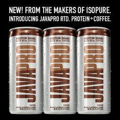 Coffee lovers, meet the newest member of our JAVAPRO family -- JAVAPRO Protein Shake made with real coffee! 16 grams of protein, 5g of carbs & 70 mg of caffeine in one super convenient can. Plus, it's so delicious you won't believe it only has 100 calories per serving! #isopure #Javapro #RTD #protein #coffee