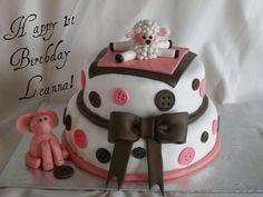 Cute as a button cake