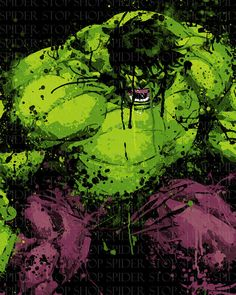 The Incredible Hulk Grunge 18 x 24 by SpiderStopShop on Etsy, $15.00