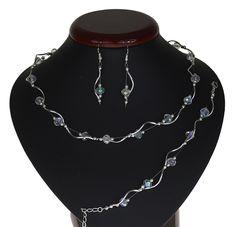 BIŻUTERIA ŚLUBNA KOMPLET ŚLUBNY wieczorowy posrebrzany kryształki ab KP203 Silver, Jewelry, Fashion, Jewlery, Moda, Money, Jewels, La Mode, Jewerly