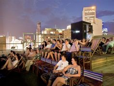 Rooftop Bar & Cinema by Grant Amon Architects Pty Ltd in Melbourne, Australia