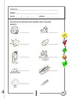 """"""" Atividades Escolares """": Atividades Com as Vogais a, e, i, o, u"""