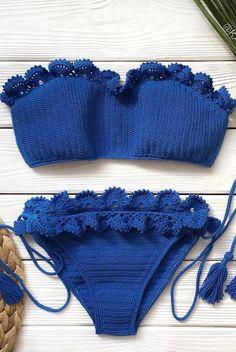 Crochet Cover Up, Crochet Crop Top, Crochet Blouse, Diy Crochet, Crochet Crafts, Crochet Bikini, Baby Knitting Patterns, Crochet Patterns, Mode Du Bikini