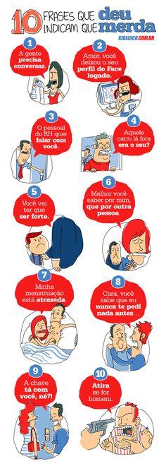 TOP 10 FRASES QUE INDICAM QUE DEU MERDA