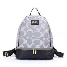 Coach Logo Monogram HW303 Backpack In Grey