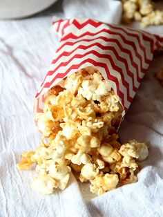 Salted Caramel Popcorn 1/2 cup unpopped popcorn kernels (about 16 cups popped corn) 1 cup salted butter 1 cup light brown sugar 1/3 cup light corn syrup 1 1/2 - 2 ...