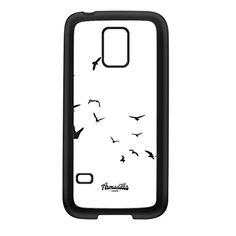 Birds in Flight White Black Silicon Rubber Case for Galaxy S5 Mini by Gadget Glamour  FREE Crystal Clear Screen Protector -- You can get more details by clicking on the image. (Note:Amazon affiliate link)