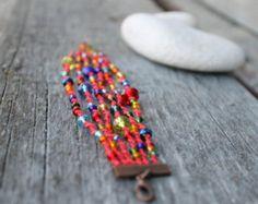 Nappa bracciale braccialetto di perline a strati di byHamelin