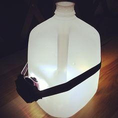 Easy trick that really works! Create DIY ambient light with a headlight. We found ours near checkout at The Home Depot!