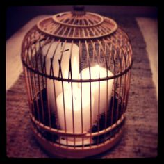 Decorar con Jaulas es Más que una Idea cuando le agregas velas y la usas como un lindo centro de mesa... www.facebook.com/masqueunaidea.cl