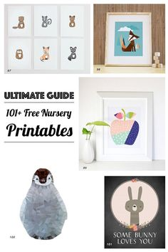 List of 126 Free Nursery Printables