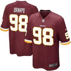 NFL Youth Elite Nike Washington Redskins #98 Brian Orakpo Team Color Jersey $79.99