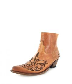 Sendra Boots 7216 Siena Westerntiefelette - beige