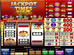 Jackpot Times V.I.P. Slots - With a minimum coin size of 10.00 this 3-reel 5-line online reel slot machine is indeed designed for VIP players. Of course the more qualified player can use coins as large as 50.00 making the max bet 250.00 per spin!