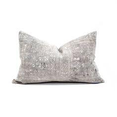 13×20 grey hmong batik hemp linen pillow cover Linen Pillows, Cotton Pillow, Boho Pillows, Batik Prints, Vintage Textiles, Handmade Pillows, Natural Linen, Hemp, Grey