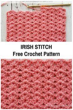 Irish stitch free crochet pattern